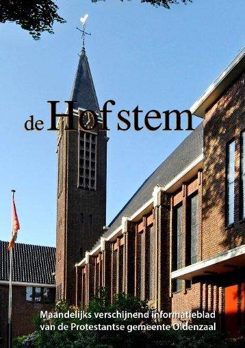 Hofstem maart 2012 - Protestantsekerk.net