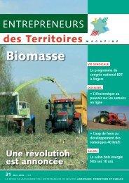 Biomasse - Entrepreneurs Des Territoires