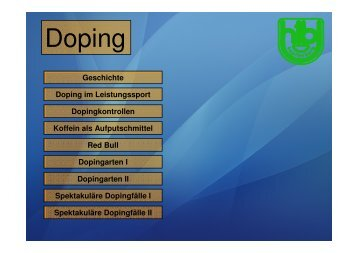 Geschichte Doping im Leistungssport ... - HTL Kapfenberg