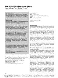 New advances in pancreatic surgery - SASSiT