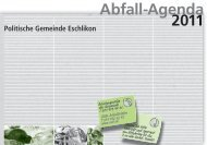 Abfall-Agenda 2011 - Gemeinde Eschlikon