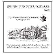 SPEISEN- UND GETRÄNKEKARTE - Naturfreundehaus Rahnenhof