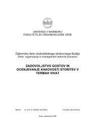 zadovoljstvo gostov in ocenjevanje kakovosti storitev v termah vivat