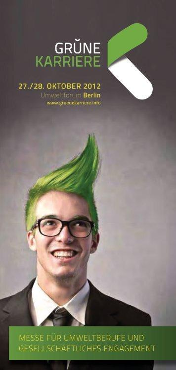 Rahmenprogramm - Grüne Karriere