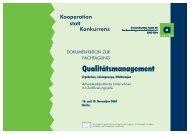 Qualitätsmanagement - Kooperation statt Konkurrenz