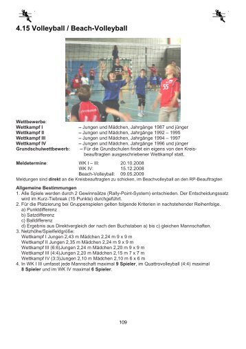4.15 Volleyball / Beach-Volleyball - Kultusportal