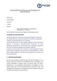 Vertraulichkeitsvereinbarung und Grundsätze der Zusammenarbeit