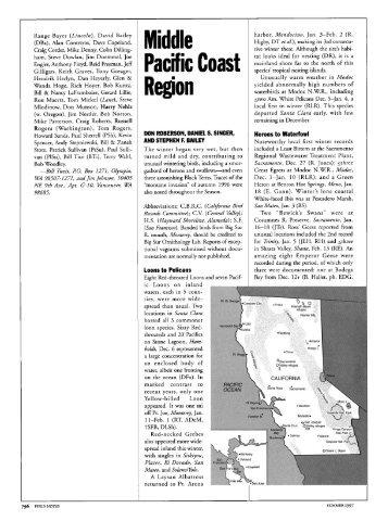 Middle Pacific Coast Region