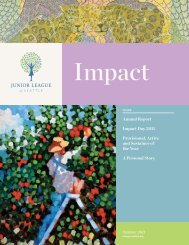 Impact - Junior League of Seattle