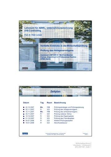 Lehrstuhl Für ABWL - winfried-melcher.de