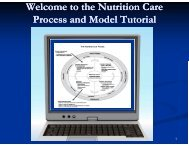 Welcome to the Nutrition Care Process and Model Tutorial
