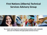 Bill S-11 - First Nations (Alberta) Technical Services Advisory Group