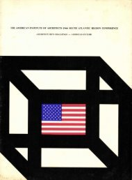 THE AMERICAN INSTITUTE OF ARCHITECTS 1966 SOUTH ...
