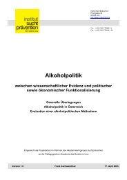 3. Alkoholpolitik in Österreich - Institut Suchtprävention