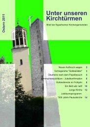 Osterbrief 2012 - Evangelische Kirchengemeinde Eppelheim