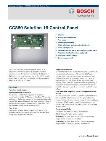 cc488 solution ultima 880 control panel. Black Bedroom Furniture Sets. Home Design Ideas