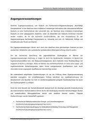 Zugangsvoraussetzungen - Fachhochschulstudiengänge Burgenland