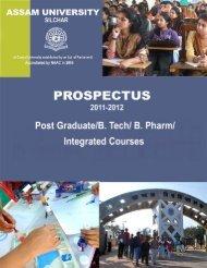 PG UG Prospectus 2011-2012 for PDF.p65 - Assam University
