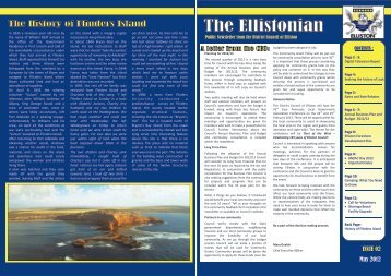 ISSUE 02 May 2012 - District Council of Elliston - sa.gov.au