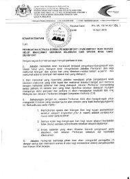 JABATAN PERIKANAN MALAYSIA (Department of ... - MyPorts
