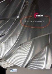 Rapport d'activité 2011 - Cetim