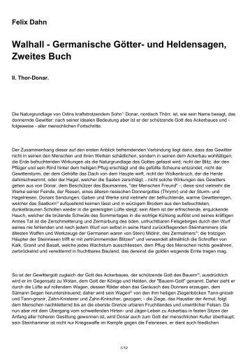 Walhall - Germanische Götter- und Heldensagen, Zweites Buch