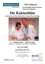 MZ-Clubreise Zur Komödie im Bayerischen Hof nach München Die ...