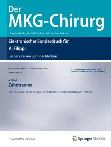Zahntrauma Klassifikation, Terminologie, Risikofaktoren und ...