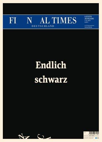 Ausgabe vom 07.12.2012 - Financial Times Deutschland