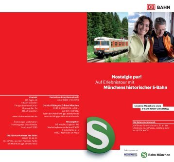 Nostalgie pur! Auf Erlebnistour mit Münchens historischer S-Bahn