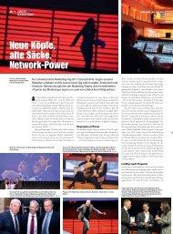 Neue Köpfe, alte Säcke, Network-Power - Schweizerischer ...
