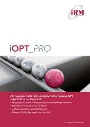 iOPT_PRO - IRM Integriertes Ressourcen-Management AG