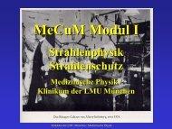 MeCuM Modul I - des Klinikums