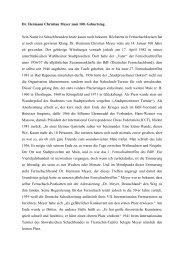 Dr. Hermann Christian Meyer zum 100. Geburtstag Sein Name ist ...