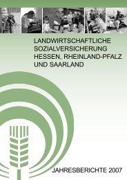 Jahresberichte der Landwirtschaftlichen Sozialversicherung Hessen ...