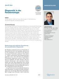 Diagnostik in der Parodontologie - Zahnärztliches Praxiszentrum in ...
