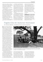 Fragiles Erbe der deutschen Kolonialzeit - Forschung Frankfurt ...