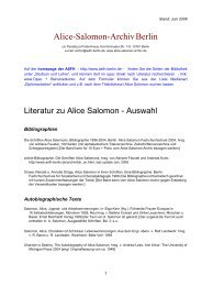 Alice-Salomon-Archiv Berlin - Alice Salomon Hochschule Berlin