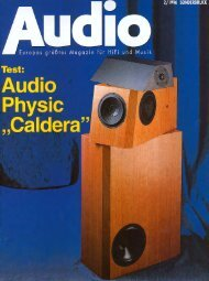 Audio Sonderdruck 2/1996 - Audio Physic