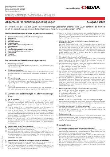 Allgemeine Versicherungsbedingungen Ausgabe 2002 - AMC Napf