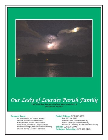 Weekly Bulletin 08-12-2012 - Our Lady of Lourdes Parish Family