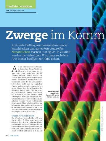 Nanoteilchen - Redaktionsbüro Hildegard Tischer