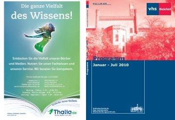 Programm Januar - Juli 2010 Januar - Juli 2010 - Volkshochschule ...