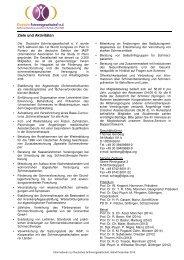 Infoblatt - Deutsche Schmerzgesellschaft e.V.