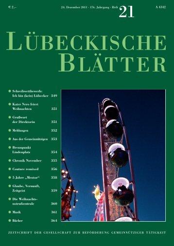 Ich bin (kein) - Lübeckische Blätter