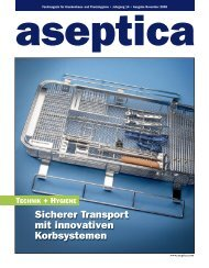 Sicherer Transport mit innovativen Korbsystemen - aseptica
