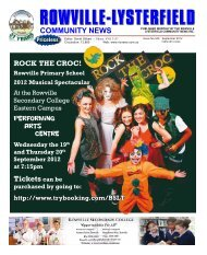 September 2012 - Rowville Lysterfield Comunity News