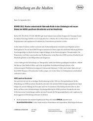 ESMO 2012: Roche unterstreicht führende Rolle in der Onkologie ...