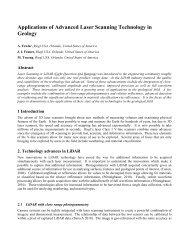 Applications of Advanced Laser Scanning Technology ... - Riegl USA
