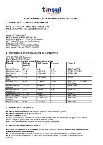 NOME DO PRODUTO: Tinta Esmalte Premium Gelo ... - Tinsul Tintas